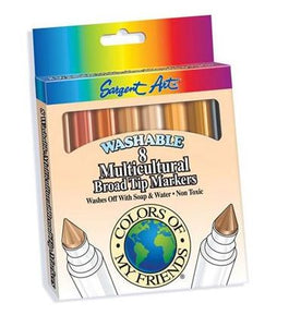 Washable Markers, Multicultural, Set of 24 & 32