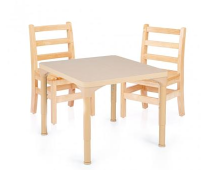 CHUNKY TABLE AND CHAIRS SET, 24