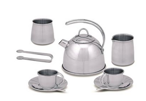 LET'S PLAY HOUSE! STAINLESS STEEL TEA SET