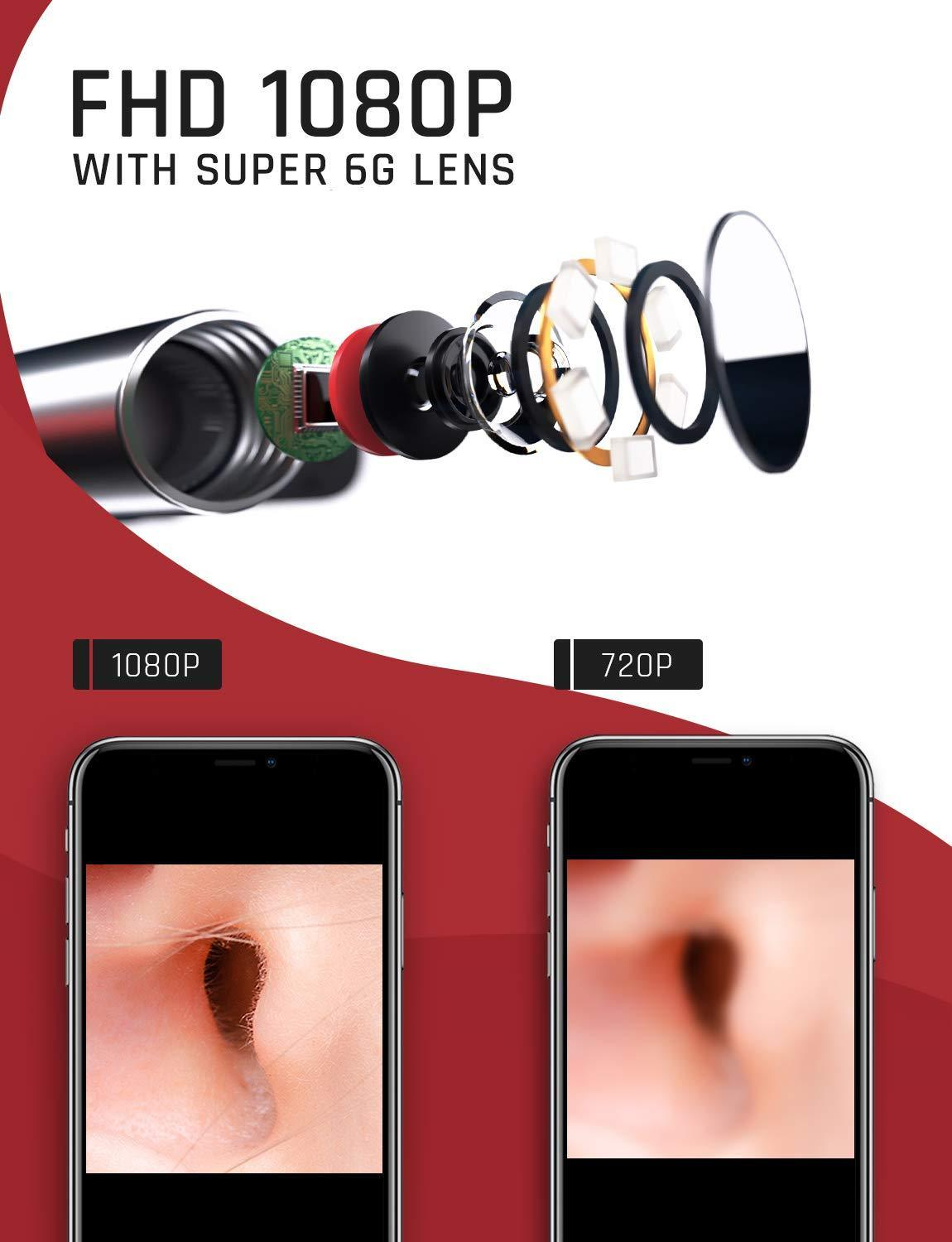 1080P WiFi Ear Endoscope
