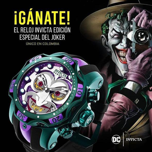DC INVICTA COMICS JOKER-Clown joint name limited large dial luminous men's watch