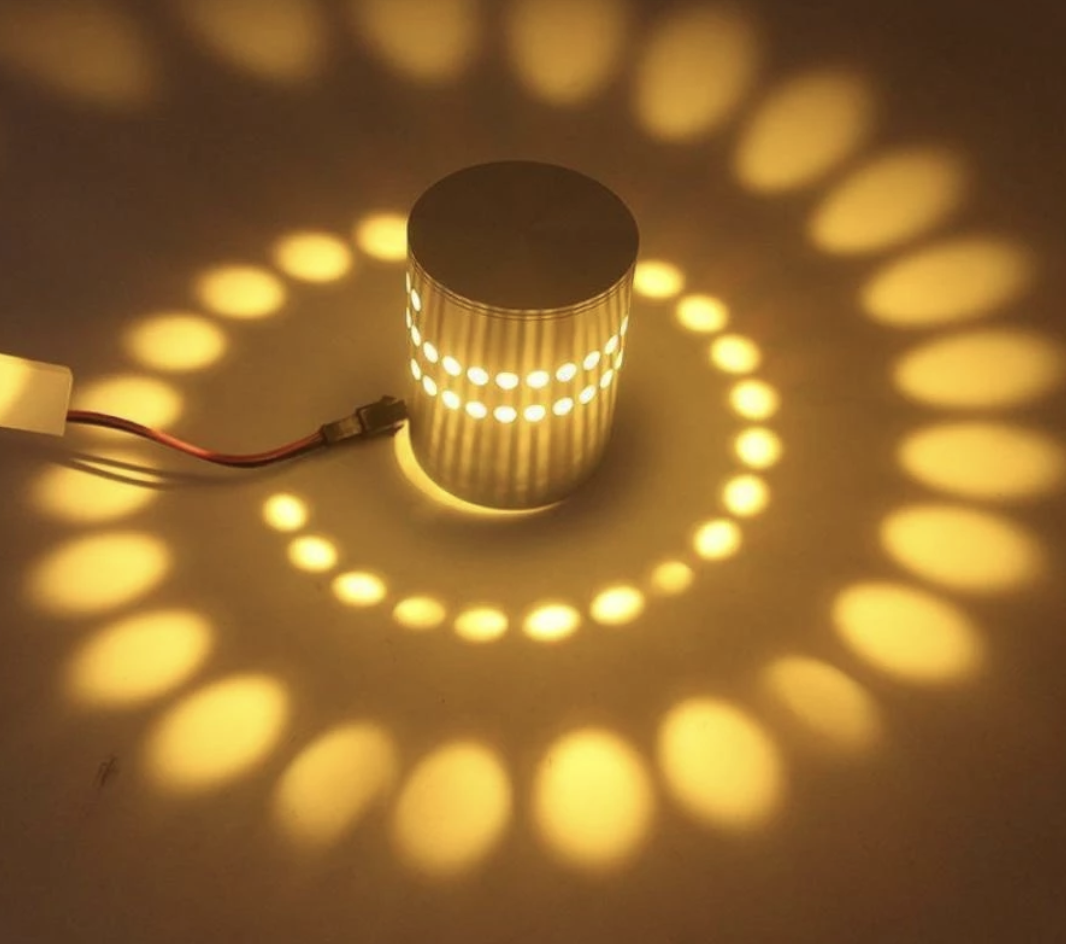 LED Spiral Wall Lamp Save 52%