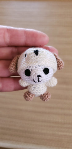 Copy of Strap ornament ,Panda bear -Dog suite he is only 5 cm. height ,