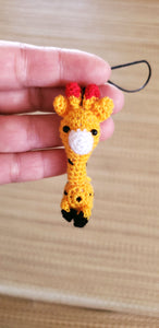 Ornament crochet doll , Giraffe amigurumi doll.