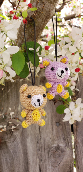 Bear 100% hand crochet doll ,ornament ,keychain