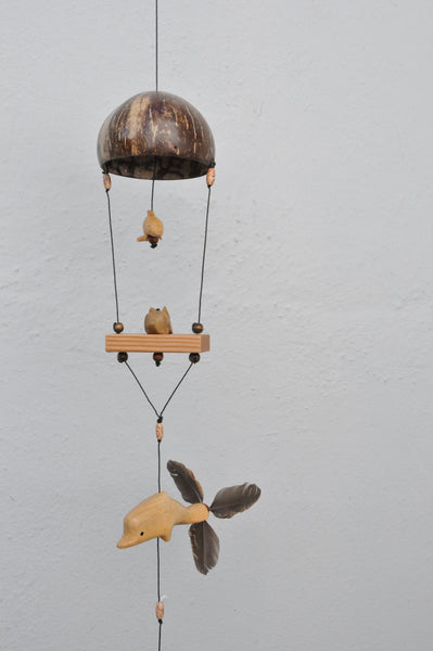 Dolphin, Rabbit  and Turtle hanging wind spinner mobiles.