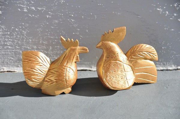 Rooster& Hen Love birds anniversary gifts wedding gift for couple  anniversary gift wood carving