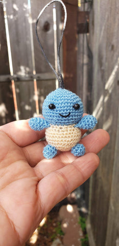 "Squirtle finished doll ,hand crochet ,2"" (5 cm).height"