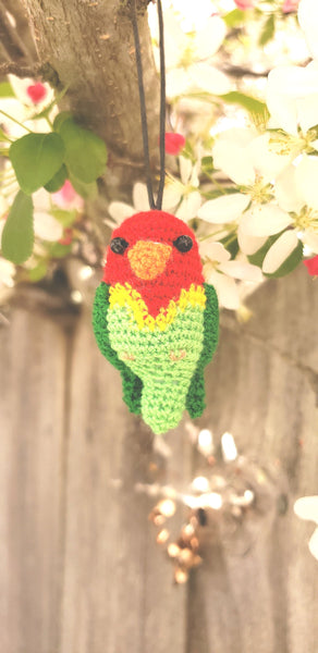 Bird,Finished product ,amigurumi doll hand crochet  , high quality  .Strap ornament.