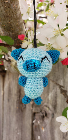 "Pigs finished doll,hand crochet ornament keychain, they are only 2"" height."
