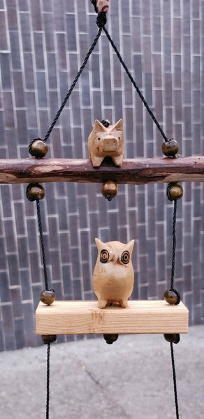Owl ,little pig,fish,outdoor mobile plant pot, UV&waterproof ,craving wood white pine,coconut pot.