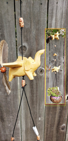 Hippo,turtle ,elephant,outdoor hanging planter ,UV,Weatherproof ,feather spinner.