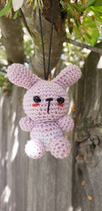 "Bunny finished doll 2"" hand crochet amigurumi ,"
