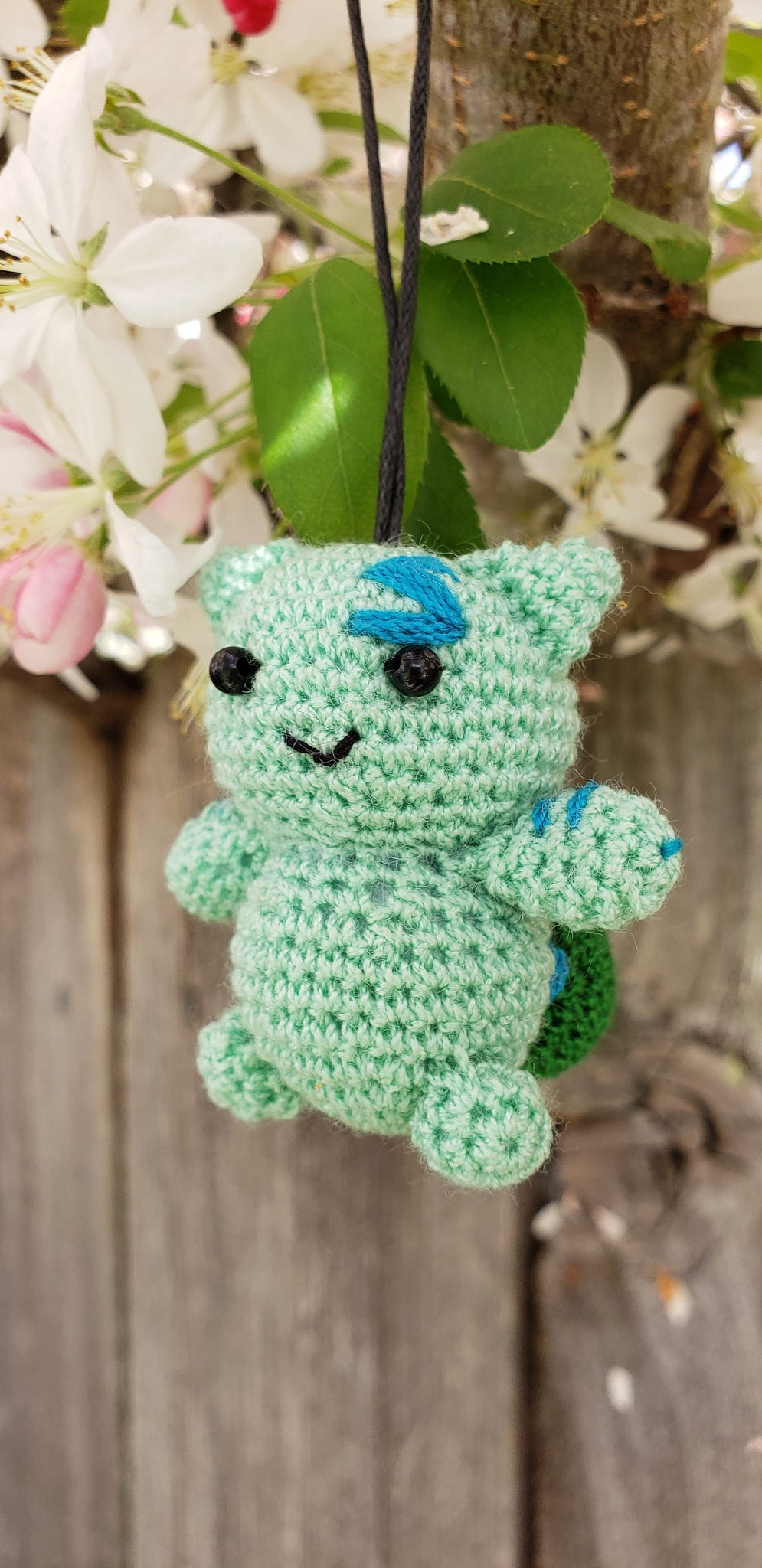 Bulbasaur finished doll , 2 inches Strap ornament ,Key chain .Car mirror hanger.