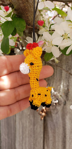 Cute little giraffe amiguruni doll. Ornament ,keychain.