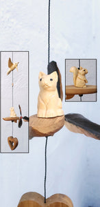 Hummingbird -cat or squirrel surfboard,Weatherproofed,feather spinners that twirl in the wind