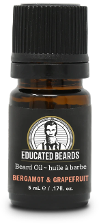Bergamot & Grapefruit .17 FL. Oz.  Beard Oil | Educated Beards