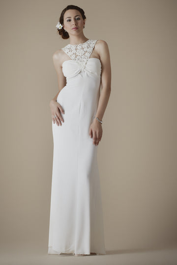 Handmade lace bridal gown