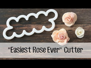How to make a Fondant Rose with the easy to use fondant cutter