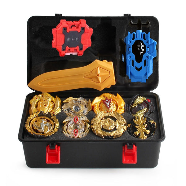 Beyblade Burst Metal Fusion Legendary Gold Set with Storage Box