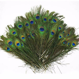 2018 50Pcs Natural Peacock Tail Feathers 8-12 Inches/about 23-30cm Party Decorations