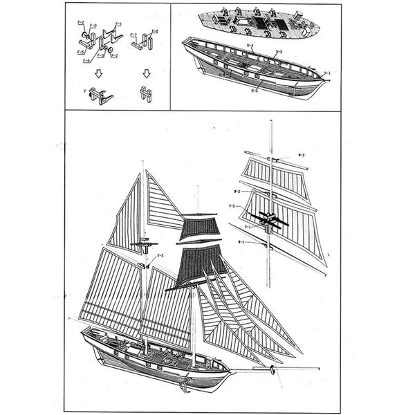 Model Sailboat Blueprints