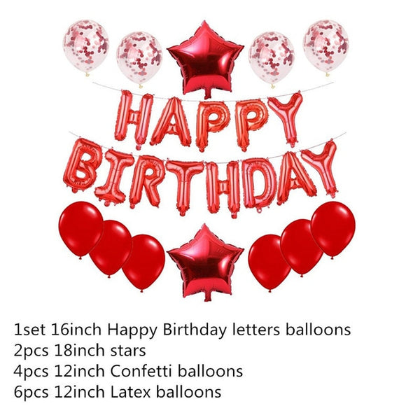 16 inch Letters HAPPY BIRTHDAY Foil Balloons