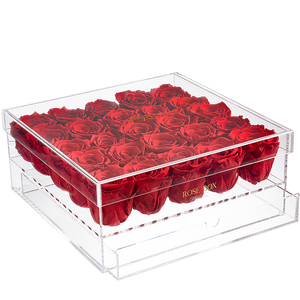 Red Flame Rose Jewelry Box (small, medium and large)