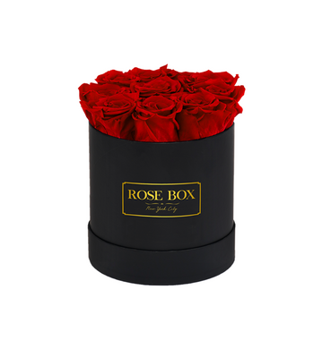 Black Box with Red Flame Roses