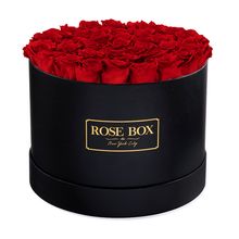 Load image into Gallery viewer, Black Box with Red Flame Roses