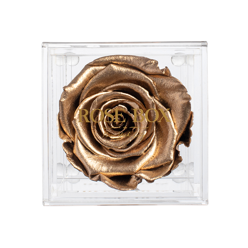 Gold Flame Rose Jewelry Box (small or Medium)