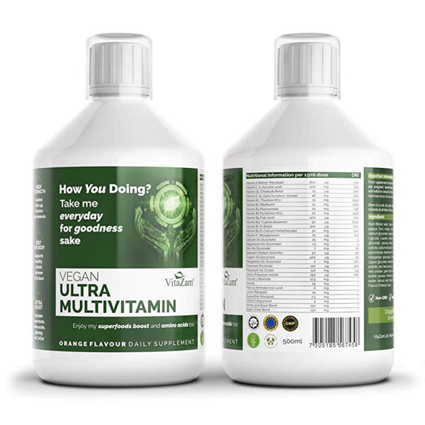 vegan ultra multivitamin 500ML