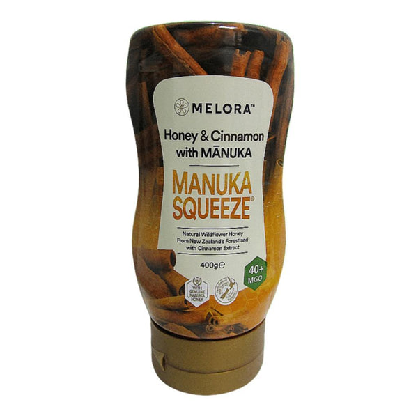 Manuka Honey Squeeze Bottle 40+MGO Cinnamon 400g