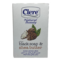 Clere Natural Beauty African Black Soap & Shea Butter (150g)