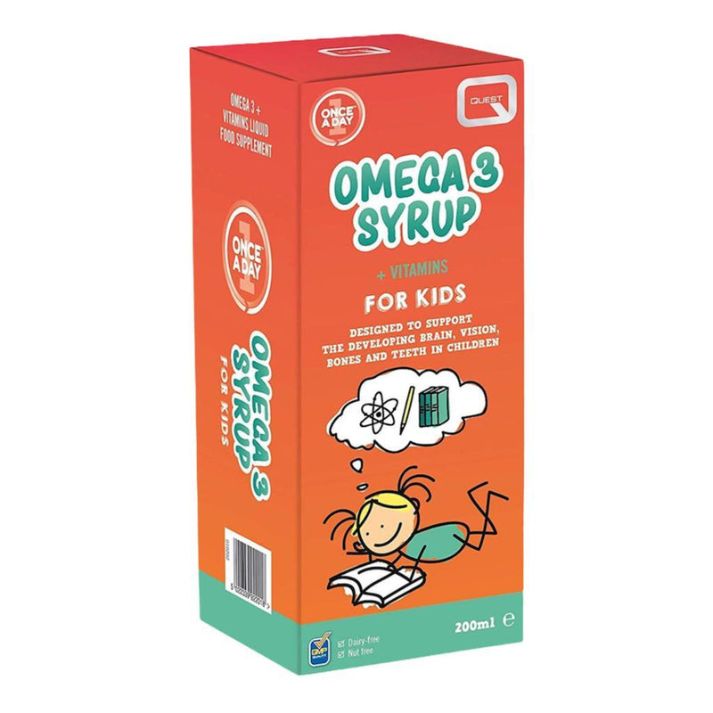 Quest Once A Day Omega 3 Syrup for Kids 200ml
