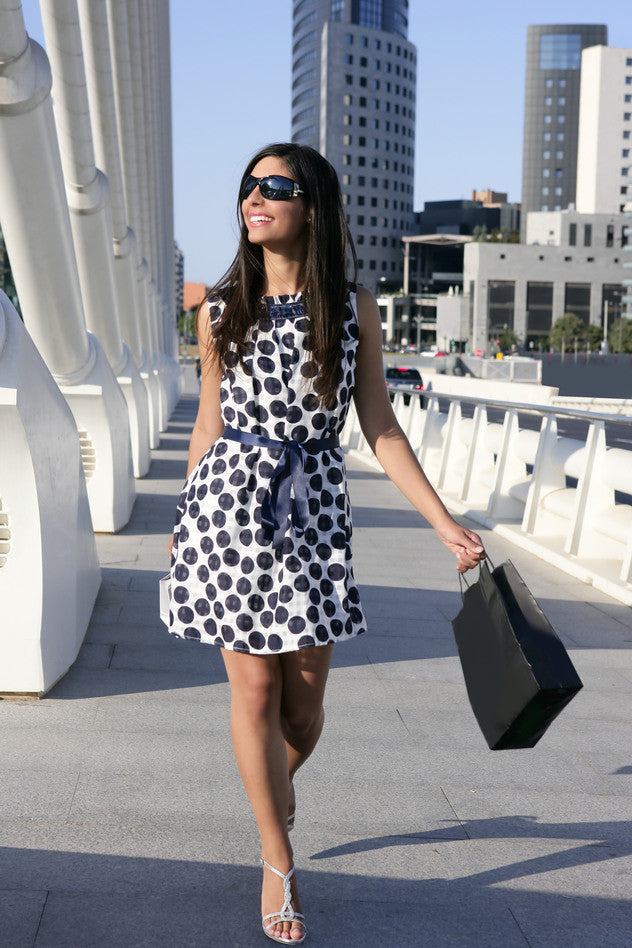 Black and white polka dress