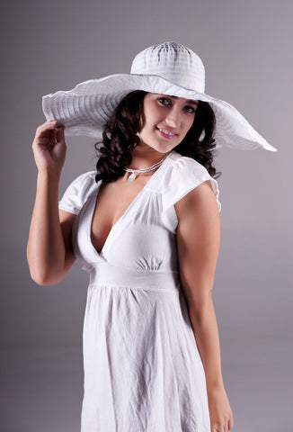 White summer dress & hat