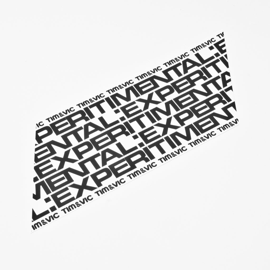 Tim & Vic EXPERITIMENTAL Sticker