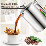 1pc Coffee Tea Pouring Kettle Insulated Stainless Steel French Presses Coffee Maker Best Double Walled  Cafetiere Pot 350-1000ML