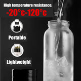 750/1000/1500ML Outdoor Fruit Tea Portable Bottles With Tea Infuser Water High Borosilicate Glass Water Bottle + Travel Sleeve