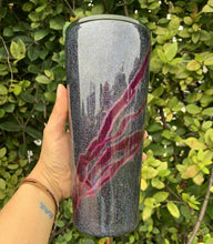 Load image into Gallery viewer, glitter, pink, metallic, 32oz tumbler