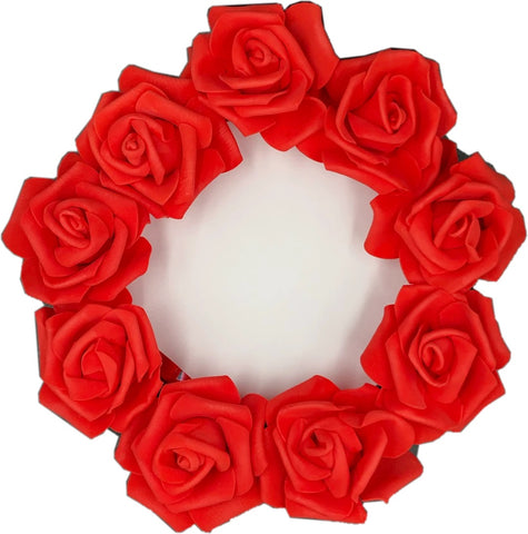Red rose mirror