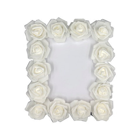 White rose mirror