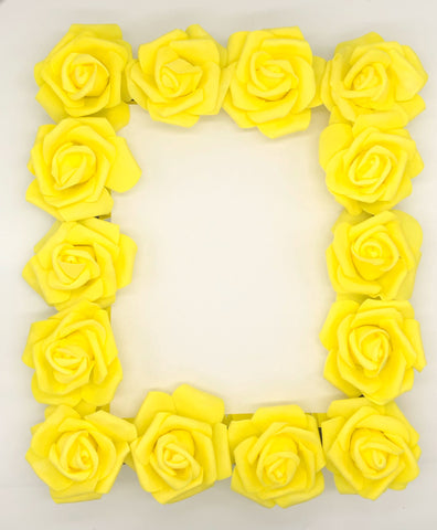 Yellow rose mirror