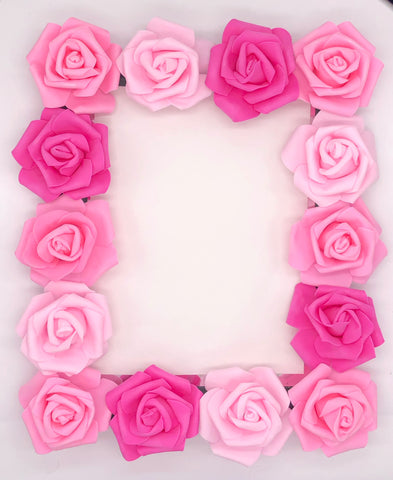 Multi pink rose mirror