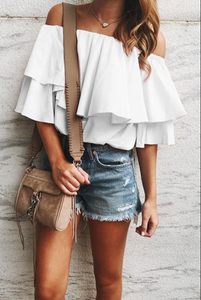 Flow-y Off the Shoulder Top