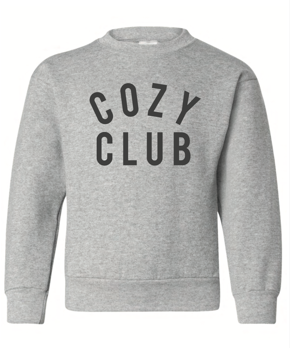 Mini Cozy Club Sweatshirt - Grey