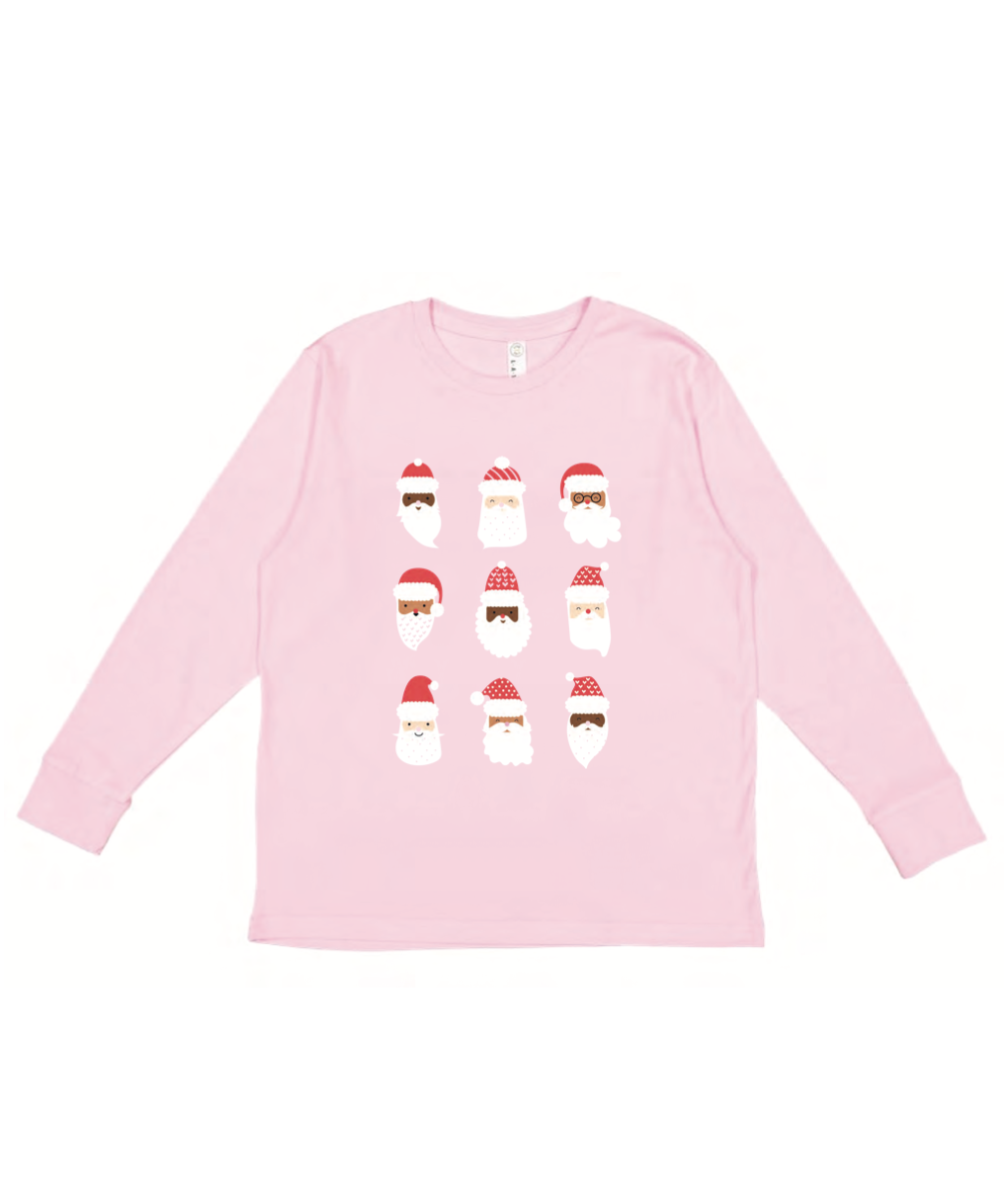 Santa Mini Long Sleeve - Pink