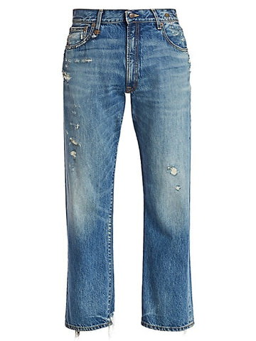 R13W7748 Bain with rips boyfriend jean