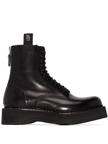 R13S0002018 Stack lace up boot